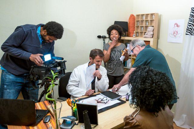 Reportage making off – tournage d'un court métrage de prévention santé – illustrations